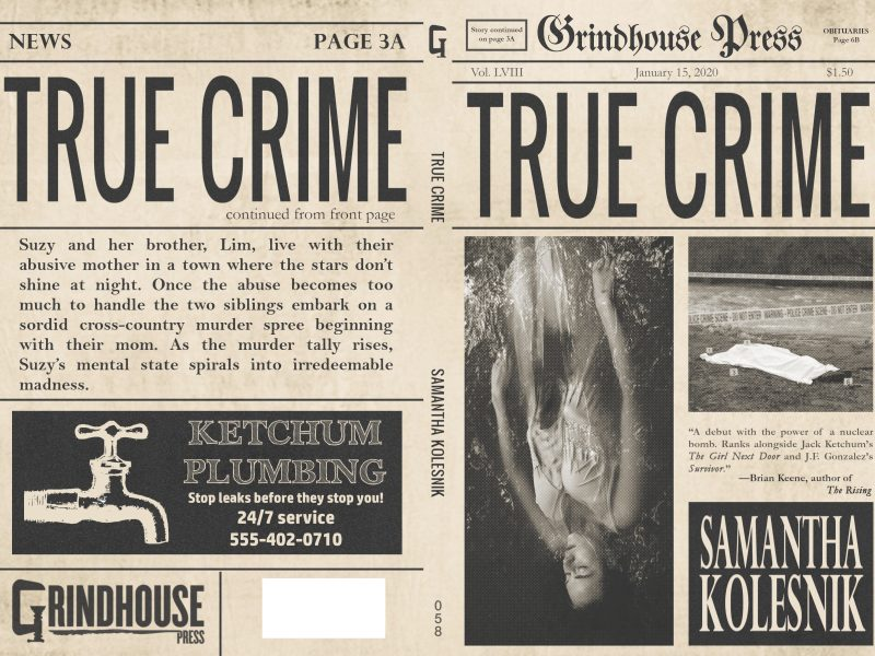 2020 Release Date for TRUE CRIME, Debut Novel by Samantha Kolesnik