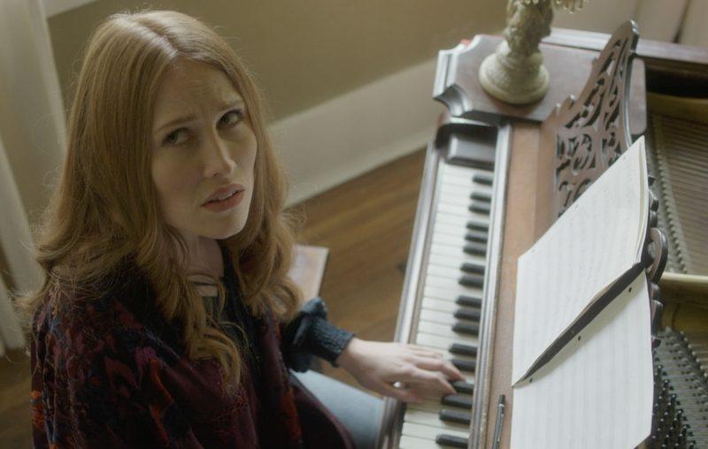 Amber at Piano Looking Up